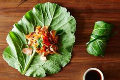 Asian Summer Rolls with Leftover Fish and Market Greens, a recipe on Food52