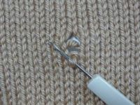 how to repair dropped stitches - priceless - @ knit it now learning library