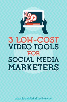 Need to do more marketing with video? Looking for video tools that are easy to use? In this article, youll discover three tools to quickly and easily create polished, eye-catching videos for social media. Social Media Marketing Business, Content Marketing Strategy, Online Marketing, Digital Marketing, Mobile Marketing, Marketing Tools, Marketing Ideas, Social Media Channels, Social Media Tips
