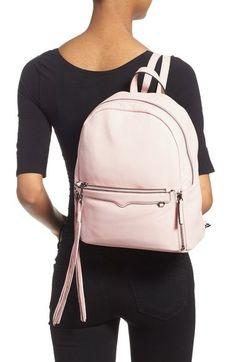 Rose Quartz handbags: Rebecca Minkoff Lola Backpack in blush