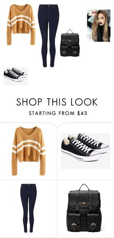 """""""Untitled #62"""" by shortiiiee on Polyvore featuring Converse, Miss Selfridge and Sole Society"""