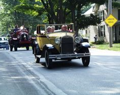 A weekly tradition spring, summer & fall; Sunday Antique Car Parade.