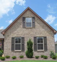 New House Building Ideas Dreams Cheap House Building Ideas Bedrooms Stained Brick Exterior, Brown Brick Exterior, Brown Brick Houses, Stone Exterior Houses, Craftsman Exterior, House Paint Exterior, Exterior House Colors, Stone Houses, Exterior Design