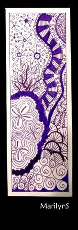 Marque_pages_004 - #DRAW #ZENTANGLE #ZENDALA #TANGLE #DOODLE #COLOR #COLOUR #FARBE