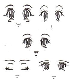 Homemade Decal Eyes 4 by RubyconCream, via Flickr