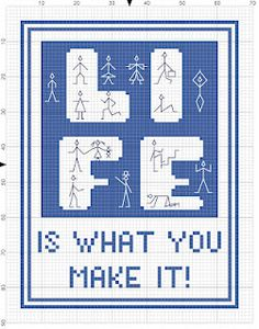 cross-stitch freebie Life is... no color chart available, just use the pattern chart as your color guide.. or choose your own colors...