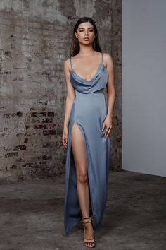Lexi Mila Dress - Slate Blue Hire the Lexi Mila Dress for your special event. Dress Hire AU offers Australian women the most up-to-date trends for a fraction of the retail price. Secure your booking now! Satin Dresses, Ball Dresses, Dresses Dresses, Long Dresses, Long Elegant Dresses, Dresses Online, Summer Dresses, Tailored Dresses, Casual Dresses