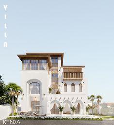 Hall Interior Design, Exterior Design, House Elevation, Village Houses, Mediterranean Homes, Modern House Plans, Custom Homes, Ideal Home, My House