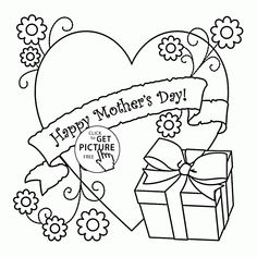 Print Mother's Day Coloring Page Gift coloring page & book. Your own Mother's Day Coloring Page Gift printable coloring page. With over 4000 coloring pages including Mother's Day Coloring Page Gift . Free Printable Coloring Pages, Coloring Pages To Print, Coloring For Kids, Coloring Pages For Kids, Coloring Book, Colouring Sheets, Free Printables, Mothers Day Crafts, Happy Mothers Day