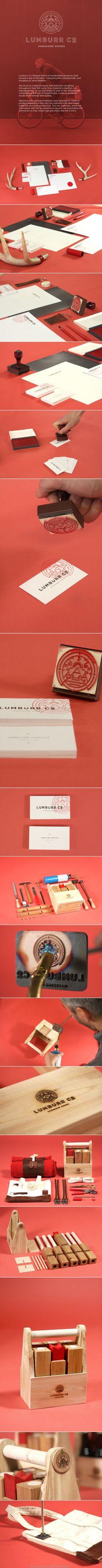 Lumburr Co. #imagen #corporativa muy sencilla, #diseño personalizado de forma manual con sellos y herramientas