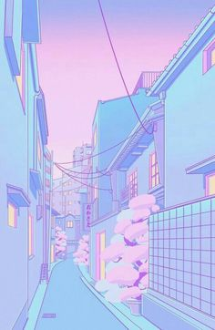vaporwave pixel Osaka Morning Mini Art Print by Elora Pautrat - Without Stand - x Pastell Wallpaper, Cute Pastel Wallpaper, Anime Scenery Wallpaper, Purple Wallpaper, Aesthetic Pastel Wallpaper, Kawaii Wallpaper, Aesthetic Backgrounds, Cartoon Wallpaper, Pink Aesthetic
