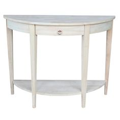 Half-moon Unfinished Modern Console Table - Overstock™ Shopping - Great Deals on Coffee, Sofa & End Tables