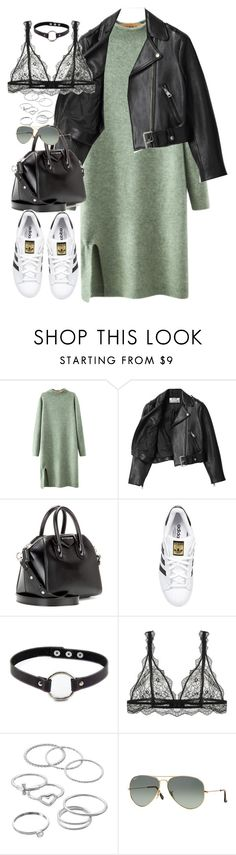 """""""Sin título #1096"""" by osnapitzvic ❤ liked on Polyvore featuring Chicnova Fashion, Acne Studios, Givenchy, adidas Originals, Retrò, LC Lauren Conrad and Ray-Ban"""