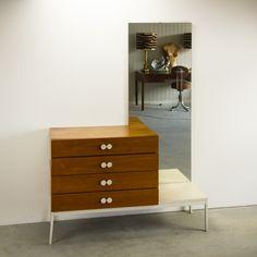 _MG_2965 07061100K 60's - 70's teak ladenkast met spiegel Design Vintage Retro Barbmama