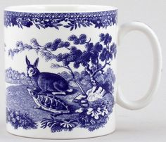RP: Spode Blue Room Mug Aesop's Fables - The Hare and The Tortoise