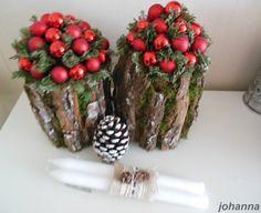 Boomschors om een pot lijmen en wat groen en rode balletjes toevoegen! Diy Crafts For Home Decor, Diy Crafts How To Make, Easy Diy Crafts, Green Christmas, Christmas Home, Christmas Holidays, Christmas Crafts, Primitive Christmas, Rustic Christmas
