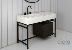 Collections sanitary ware bathroom furniture design proposals and innovative surfaces in an exciting range of products Made in Italy by Ceramica Cielo. Tiny Bathrooms, Beach Bathrooms, Upstairs Bathrooms, Small Bathroom, Small Shower Room, Master Bathroom Shower, Small Showers, Bathroom Furniture Design, Toilet Design