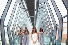 Pin for Later: 40+ Adorable Photos You Need to Take With Your Bridesmaids The Epic Architecture Shot See the full wedding here. Photo by Greybird Galleries, LLC