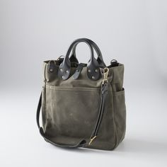 Canvas Utility Bag - Small Olive | Bags | Accessories