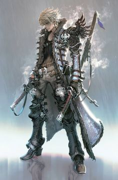 Two sword man Art by seunghee lee