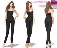 0ecdfed5fc1 Second Life Marketplace - Meli Imako Full Perm Rigged Mesh Strapless  Jumpsuit