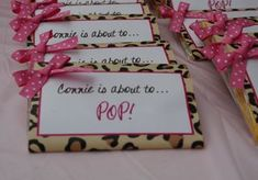 Baby shower ides for girls themes pink chocolate covered Ideas Baby Shower Centerpieces, Baby Shower Favors, Baby Shower Parties, Baby Shower Themes, Baby Shower Decorations, Baby Shower Invitations, Shower Ideas, Invites, Cheetah Baby Showers