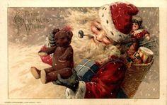 Christmas Santa Claus Vintage Cards