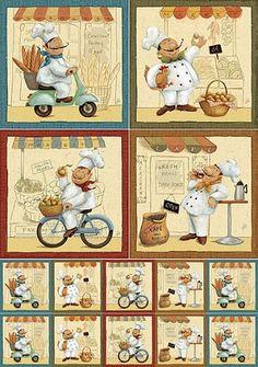 Cartoon Chef, Cartoon Pics, Decoupage Vintage, Decoupage Paper, Chef Pictures, Scrapbook Recipe Book, Decoupage Printables, Foto Transfer, Music Illustration