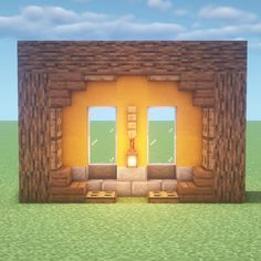 Neat little kitchen design. : Minecraft – disney pixar - Mine Minecraft World Minecraft Bauwerke, Minecraft Beach House, Casa Medieval Minecraft, Construction Minecraft, Minecraft Building Guide, Cute Minecraft Houses, Minecraft Crafts, Minecraft Houses Blueprints, Amazing Minecraft