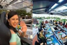 Kisses is among the first ones in the Philippines to try novelty dining service Dinner In the Sky in Solaire Resort and Casino, Paranaque City. Dinner In The Sky, Filipina Actress, Dining Services, Lucky 7, Pinoy, Beauty Queens, Kisses, Actresses, Lifestyle
