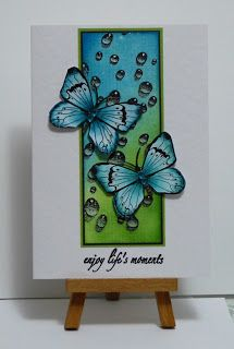 By Cathys Card Spot: using Designs by Ryn: Water Droplets stamp