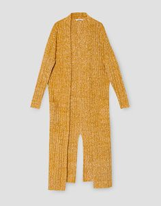 Long ribbed cardigan - Knit - Clothing - Woman - PULL&BEAR Ukraine