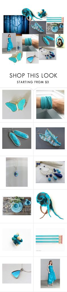 """""""Butterfly Wings"""" by inspiredbyten ❤ liked on Polyvore featuring Aksel Holmsen, Lazuli, Rustico and vintage"""
