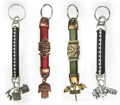 Regaliz® Leather Keychains to use up your scraps of leather! From www.bestbeads.com