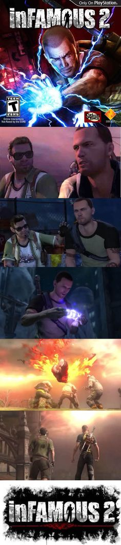 Best of #PS3 In #inFamous 2 #ColeMacGrath is being followed by the Beast. He must find new powers! http://www.levelgamingground.com/infamous-2-review.html