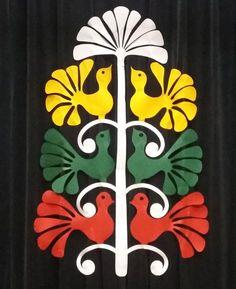 "Vaizdo rezultatas pagal užklausą ""darbeliai vasario 16-ajai"" Independence Day India, Button Tree, Republic Day, Crepe Paper, Cutwork, Spring Crafts, Classroom Decor, Paper Cutting, Folk Art"