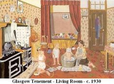 An old Glasgow Tenement.