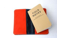 Waxed Canvas Field Notes Book Cover or Wallet by overlap on Etsy https://www.etsy.com/listing/171862013/waxed-canvas-field-notes-book-cover-or