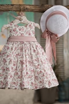 Φλοράλ φόρεμα βάπτισης Vinte Li 27278 με ψάθινο καπέλο, annassecret, Χειροποιητες μπομπονιερες γαμου, Χειροποιητες μπομπονιερες βαπτισης