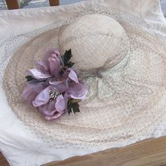 Items similar to Very large brimmed straw hat for Kentucky Derby or Downton Abbey event on Etsy Tea Party Hats, Diy Gifts, Handmade Gifts, Cute Hats, Party Ideas, Patio, Decorating, Trending Outfits, Create