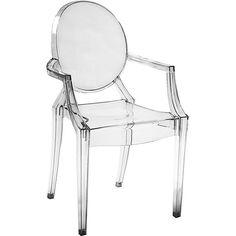 Cadeira Sofia com Braço Policarbonato Incolor - Rivatti