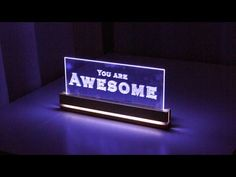Elegant Acrylic LED Decoration - How to Make a Edge Light Sign Emblem - YouTube