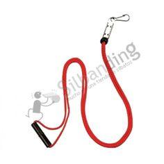 El Cordón para silbatos Fox40 Breakaway de color rojo está creado en tejido de nylon e incluye grabado el logotipo de la marca Fox-40. Tiene 90cm de largada e incluye un deslizante ajustable asi como un ajuste de seguridad alrededor del cuello. Es ideal tanto para conectar un silbato Fox-40 como un silbato ACME.