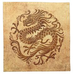 Japanese Embroidery Tiger Traditional Vintage and Worn Chinese Dragon Circle Ceramic Tile - Tribal Dragon Tattoos, Dragon Tattoo For Women, Chinese Dragon Tattoos, Tattoos Skull, Dragon Tattoo Designs, Celtic Dragon Tattoos, Hand Tattoos, Sleeve Tattoos, Chinese Dragon Drawing