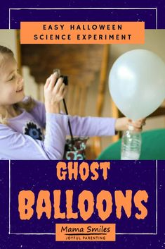 Turn a science experiment classic into the ultimate Halloween science for kids experience with these ghost balloons! #Halloween Science for Kids #kidsactivities #scienceforkids #STEMed
