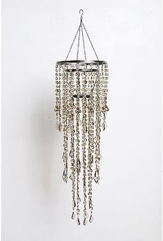 long and skinny!!  crystal chandelier