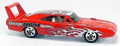 Red, w/White interior, Smoked windows, White & Black tampos, flames & 'Dodge Daytona' on sides flames & Final Run emblem on roof, Chrome Malaysia Base, w/Chr5SP's. Only $5.59 with Free Shipping!