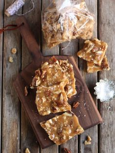 Salted Caramel Nut Brittle, perfect for holiday gifts! completelydelicious.com