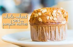Whole Wheat Oat Pumpkin Muffins Recipe