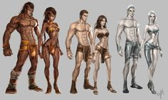 The races from the Land of Etheron by engkit.deviantart.com on @deviantART